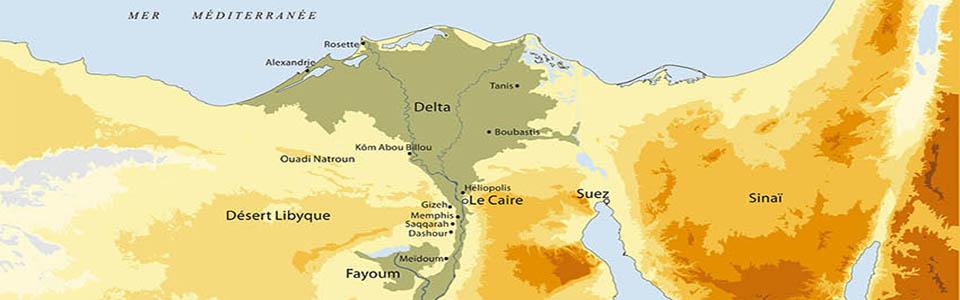 Carte de l'Égypte Ancienne